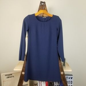American Apparel | Blue Long Sleeve Career Dress